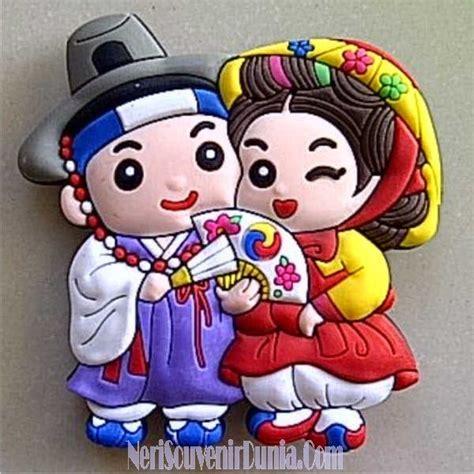 Magnet Kulkas Clay Korea Sepasang jual souvenir magnet kulkas pasangan korea a