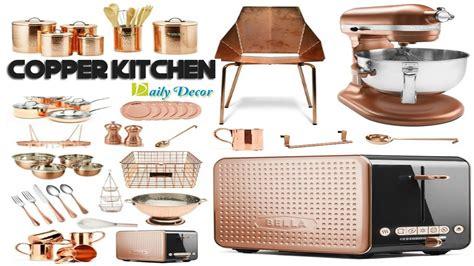 Copper Style Kitchen Accessories by Copper Kitchen Decor Design Decoration