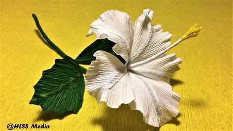 Origami Hibiscus - how to make easy origami hibiscus paper flower diy crepe