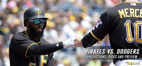 pirates  dodgers predictions picks preview
