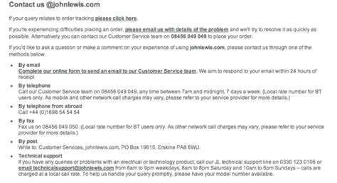 email format john lewis why you should make it easy for customers to contact you