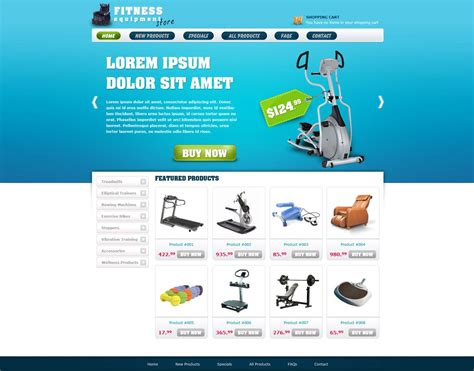free ecommerce website template free store