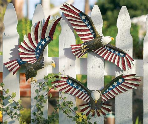 Patriotic Yard Decor by Patriotic Eagle Outdoor Fence Or Wall Decor Great For 4th