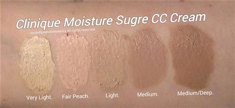 clinique moisture surge cc light medium clinique cc moisture surge hydrating color corrector