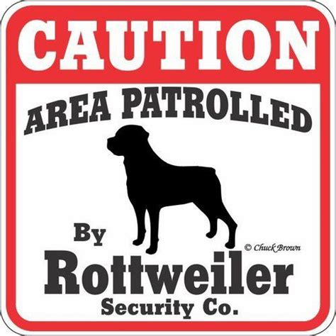 rottweiler signs yard sign quot caution area patrolled by rottweiler security company quot by signs up 6