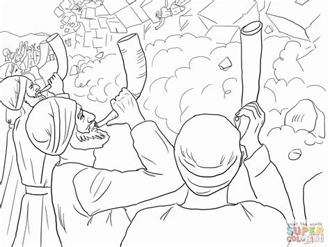 coloring page battle of jericho battle of jericho coloring page coloring home
