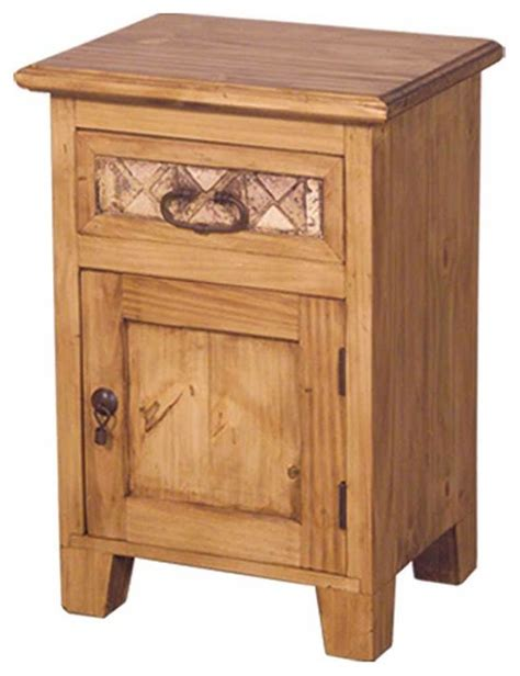 Unfinished Pine Nightstand marble and pine rustic nightstand unfinished rustic nightstands and bedside tables by tres