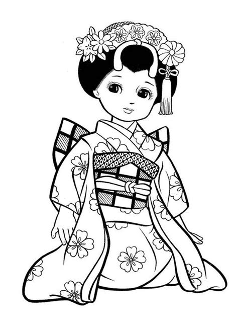 japanese boy coloring page japanese girl geisha coloring page adult coloring books