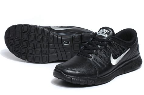 discount sale nike free 5 0 leather mens black silver