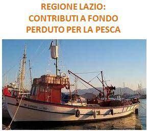 regione lazio sede legale contributi per la pesca nella regione lazio