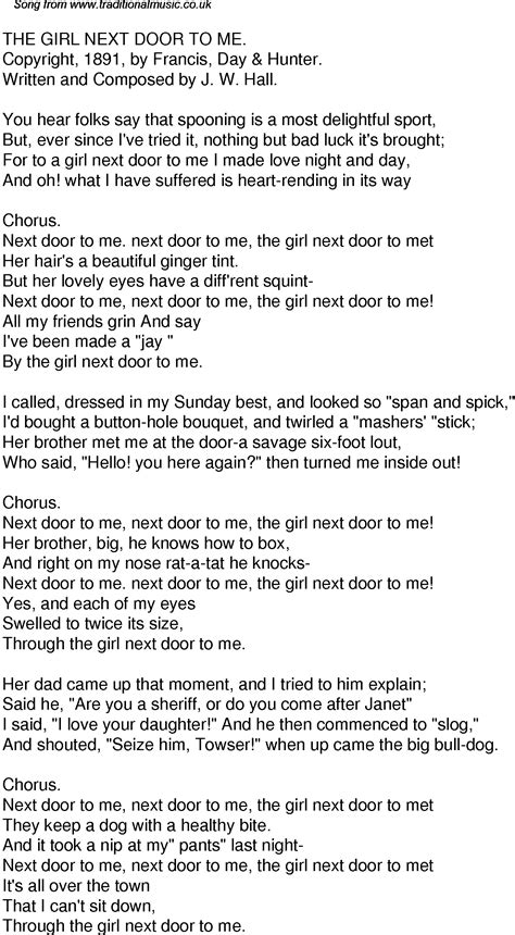 american time song lyrics 34 the next door to me