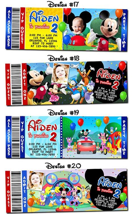 44 best images about mickey 44 best mickey mouse and friends images on photo invitations mickey mouse clubhouse