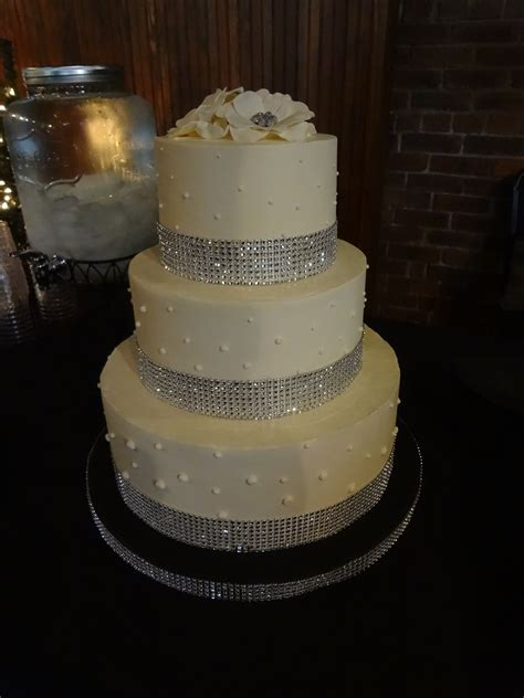 rhinestone cake white shannon louise cake studio