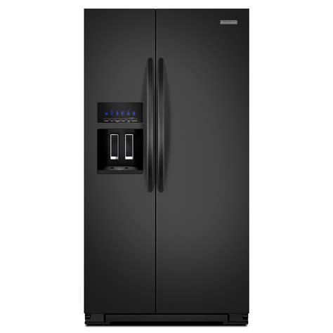 kitchenaid cabinet depth refrigerator kitchenaid ksc23c8eyb 22 5 cu ft counter depth side by