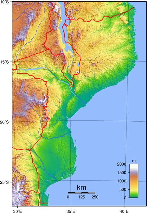 physical map of mozambique file mozambique topography png wikimedia commons