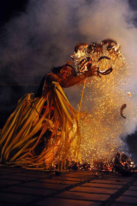 bali kecak dance fire dance  sanghyang dance evening