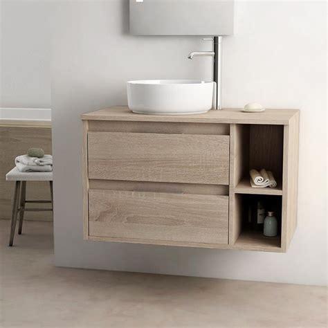 meuble salle de bain tiroir meuble salle de bain cambrian 80 cm 2 tiroirs terra