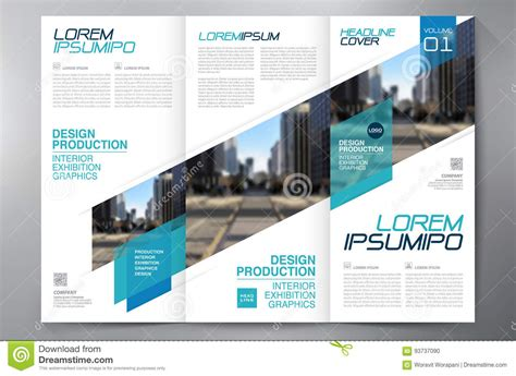 1 3 page flyer template brochure 3 fold flyer design a4 template stock vector