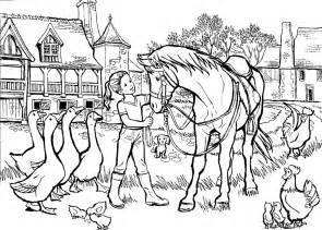 cavalli 2 disegni per bambini da colorare
