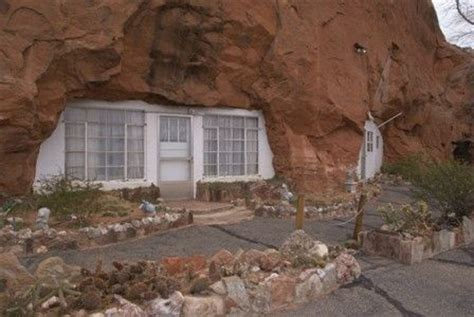 n the rock home carved out of sandstone mountain