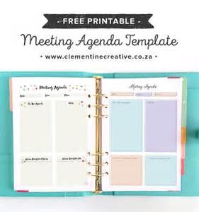 creative meeting agenda template free printable meeting agenda template