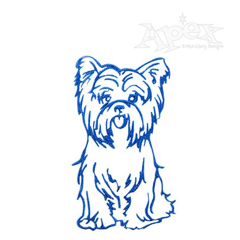 embroidery design yorkshire terrier yorkshire terrier dog yorkie embroidery design