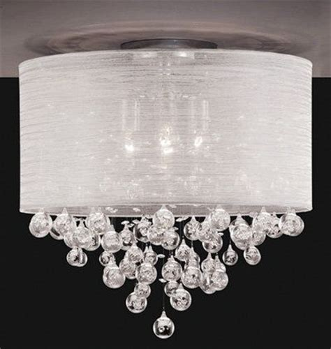 20 Quot Shade Flush Mount With Hanging Flush Semi Flush Ceiling Lights Toronto