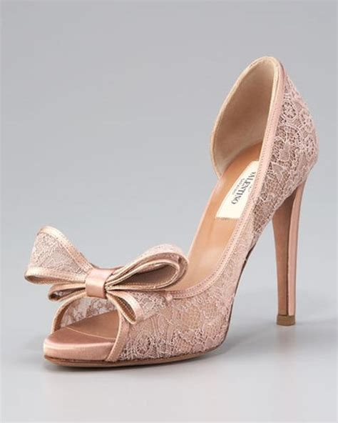 Blush Pumps Wedding by Valentino Lace Pumps Wedding Shoes Blush Weddings