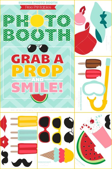 free printable photo booth props download summer photo booth props free printables