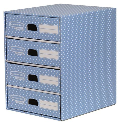 paper storage drawers argos fellowes bankers box style 4 drawer storage unit blue