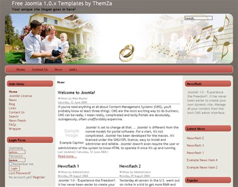 free templates 187 joomla 1 0 x 187 take a look at the