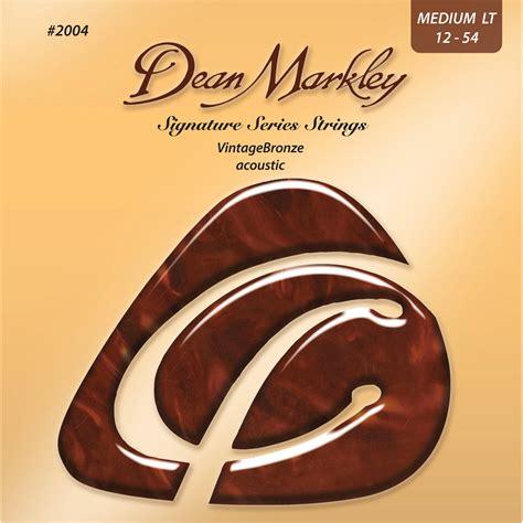 medium light guitar strings dean markley dm2004 medium light vintagebronze acoustic dm2004