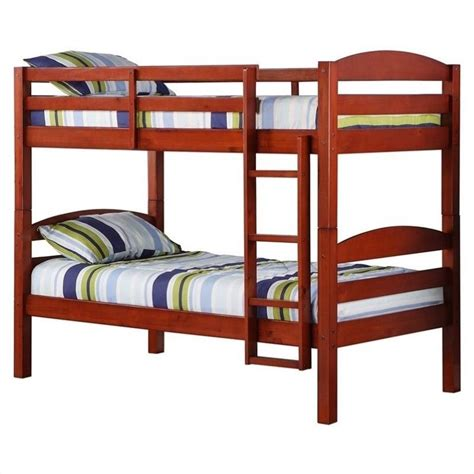 solid wood bunk beds twin over twin twin over twin solid wood bunk bed in cherry finish bwstotch