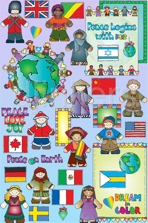 christmas themes around the world clipart kids around the world by dj inkers
