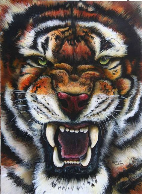 tiger airbrushed  veronica ronnie deevers airbrush