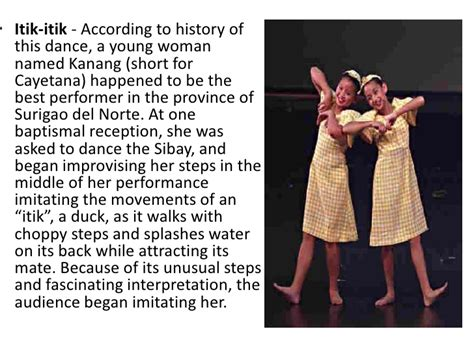 biography meaning in filipino dance