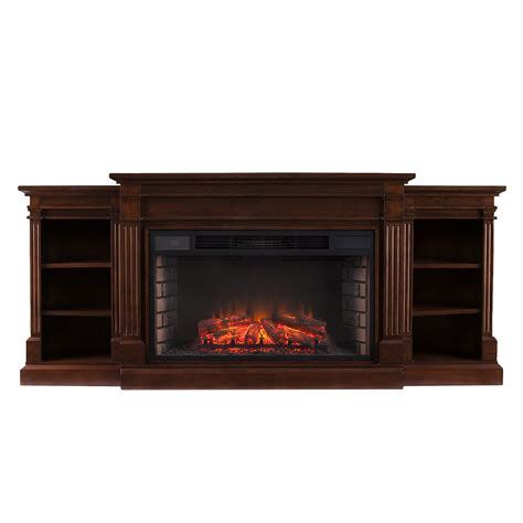 electric fireplace with bookcases 72 quot reese widescreen electric fireplace w bookcases