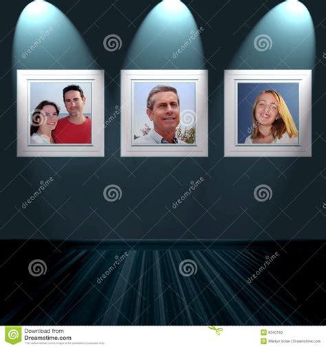 family portrait wall family portraits on wall stock photo image 8340160