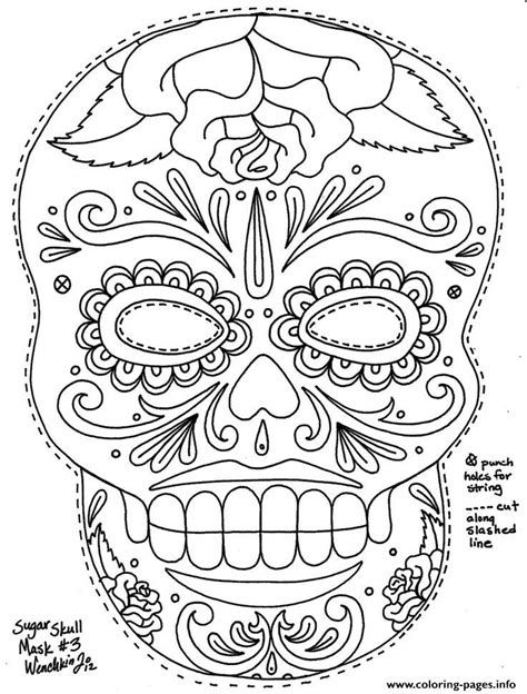 Sugar Skull Adult Coloring Pages Coloring Home Sugar Skull Coloring Pages For Adults Free