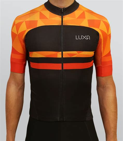 orange cycling warm orange cycling jersey