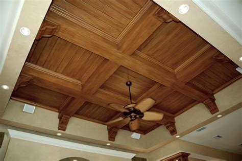 Wood Ceiling Finishes Faux Wood Graining Mediterranean Family Room Ta