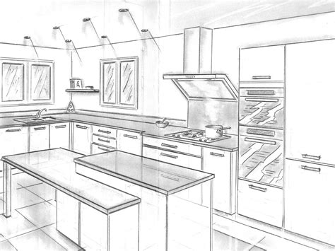 dessiner cuisine mobilier table dessiner un plan de cuisine