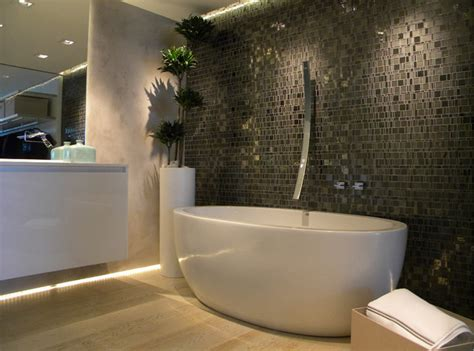 grey mosaic bathroom modern bathroom with hand cut grey glass mosaic modern