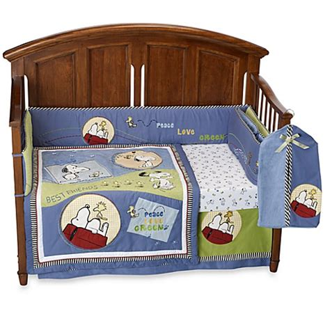 Peanuts Crib Bedding Lambs 174 Vintage Snoopy 6 Crib Bedding Set Bed Bath Beyond