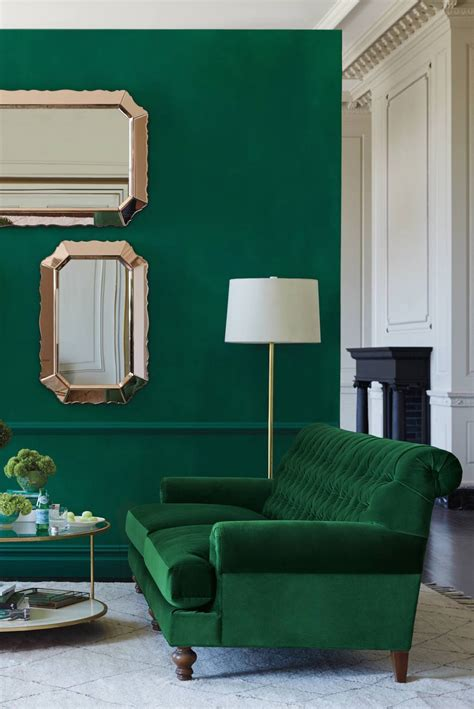 30 Lush Green Velvet Sofas In Cozy Living Rooms Green Sofas Living Rooms