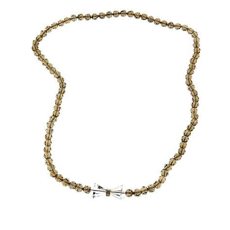 necklaces for women beaded necklaces jewelry hsn heidi daus quot ladies first quot beaded crystal bow tie 42 1 2