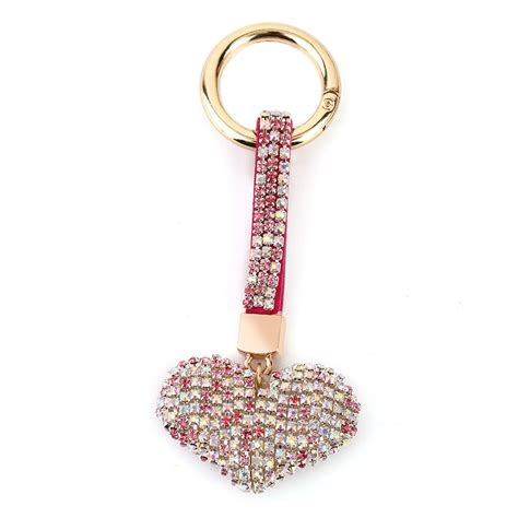 fashion design plated shinning keychain