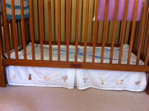 How To Lower A Crib Mattress Crib Bed Skirt Suspenders Let You Adjust The Length Of Your Bed Skirt As You Lower The Mattress