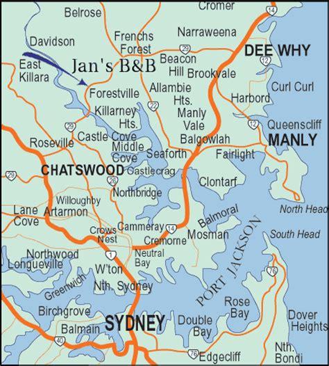 sidney australia map map of sydney australia