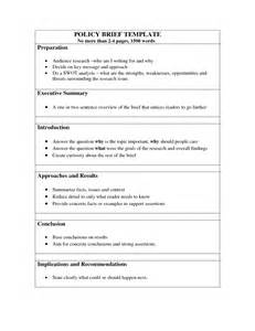 Policy Brief Template by Policy Brief Template And Powerpoint Becoming Global